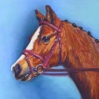 Pastel Portrait of a pony
