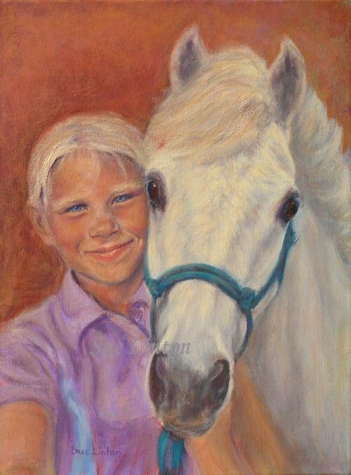 A young girl and her pony