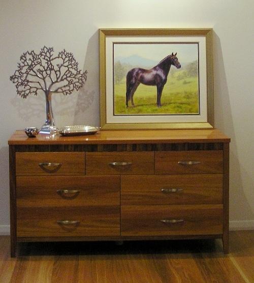 Framed Oil portrait of a horse