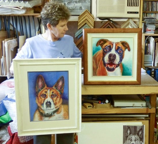 Each portrait is a custom shape to maximise the impact of your pet
