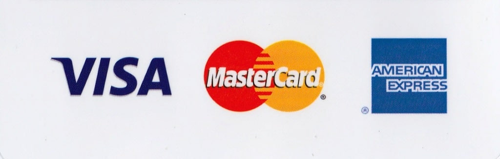I accept credit and debit cards - mastercard - visa and american express