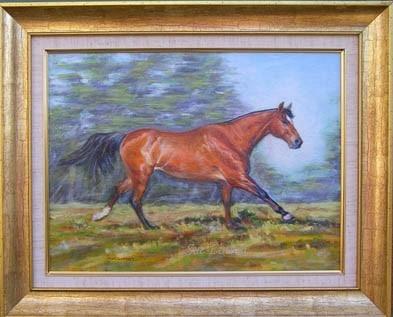 The framed portrait of Lukey