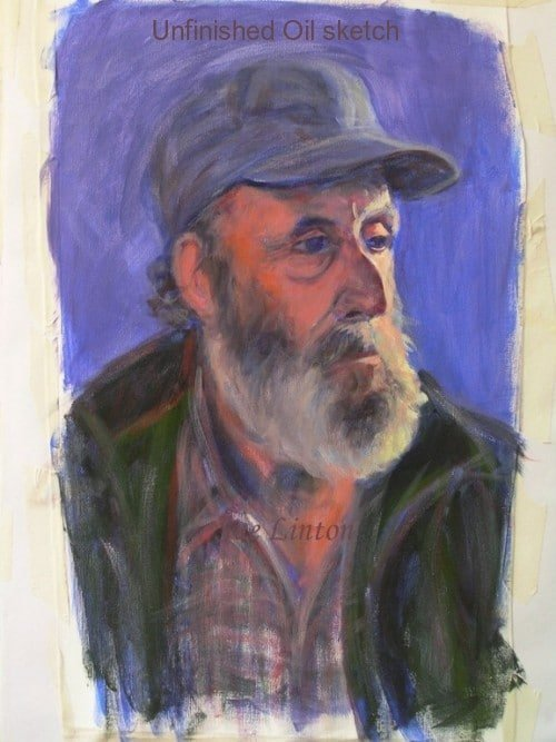 A practise portrait of a man