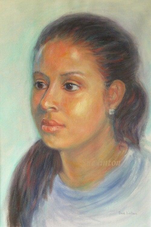 Oil portrait of a girl