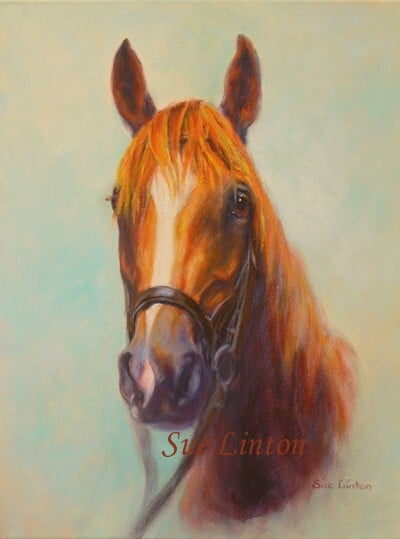 An Oil portrait of a horse