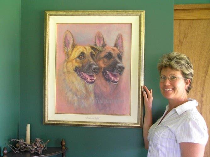 A 50 x 60cms image portrait with 2 pets