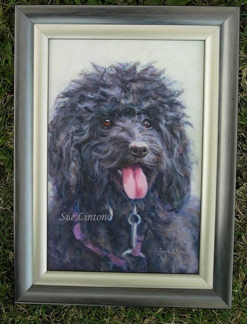 The framed portrait of Angie