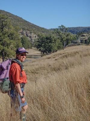 Sue bushwalking in the Hunter Valley