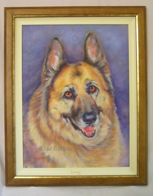The framed portrait of Lucy