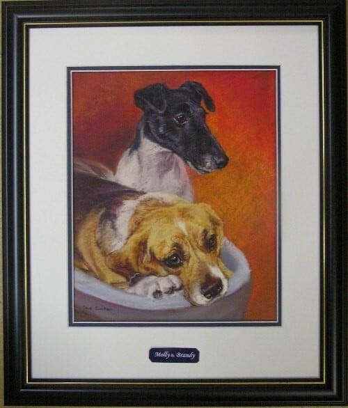 The framed portrait