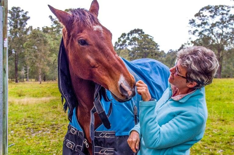 Sue with her horse Zeuss