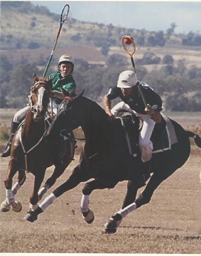 The original action photo - lovely pose but no detail in the horse or rider. You can't see the anatomy or face .