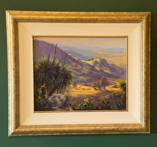 The framed landscape. The frame is square the photo was taken at a bit of an angle to reduce glare.