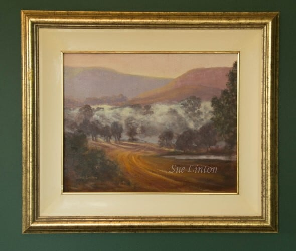 An Australian landscape of a misty morning in a valley