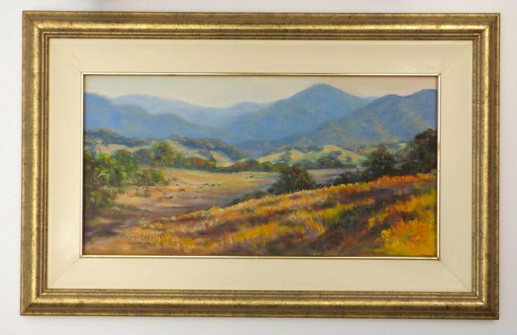 A framed Australian landscape