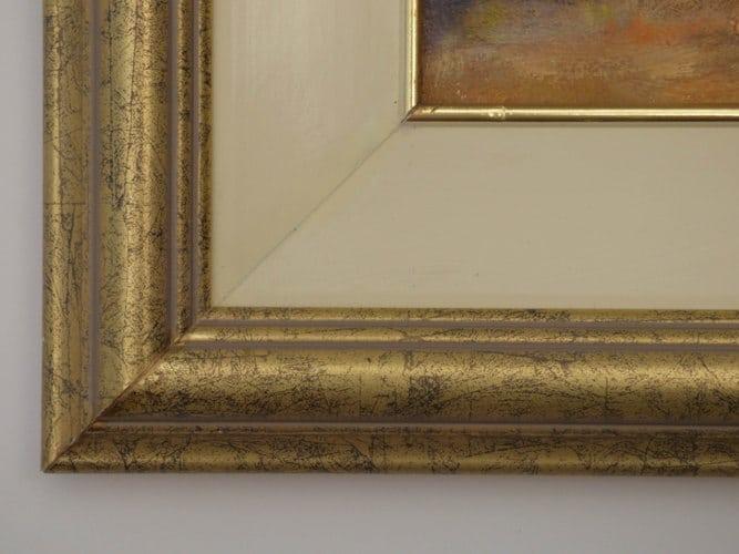 A closeup of the frame