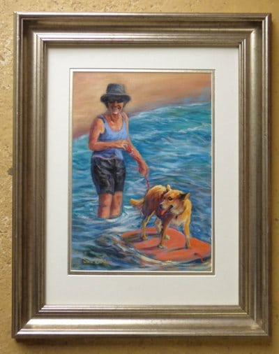 The framed painting