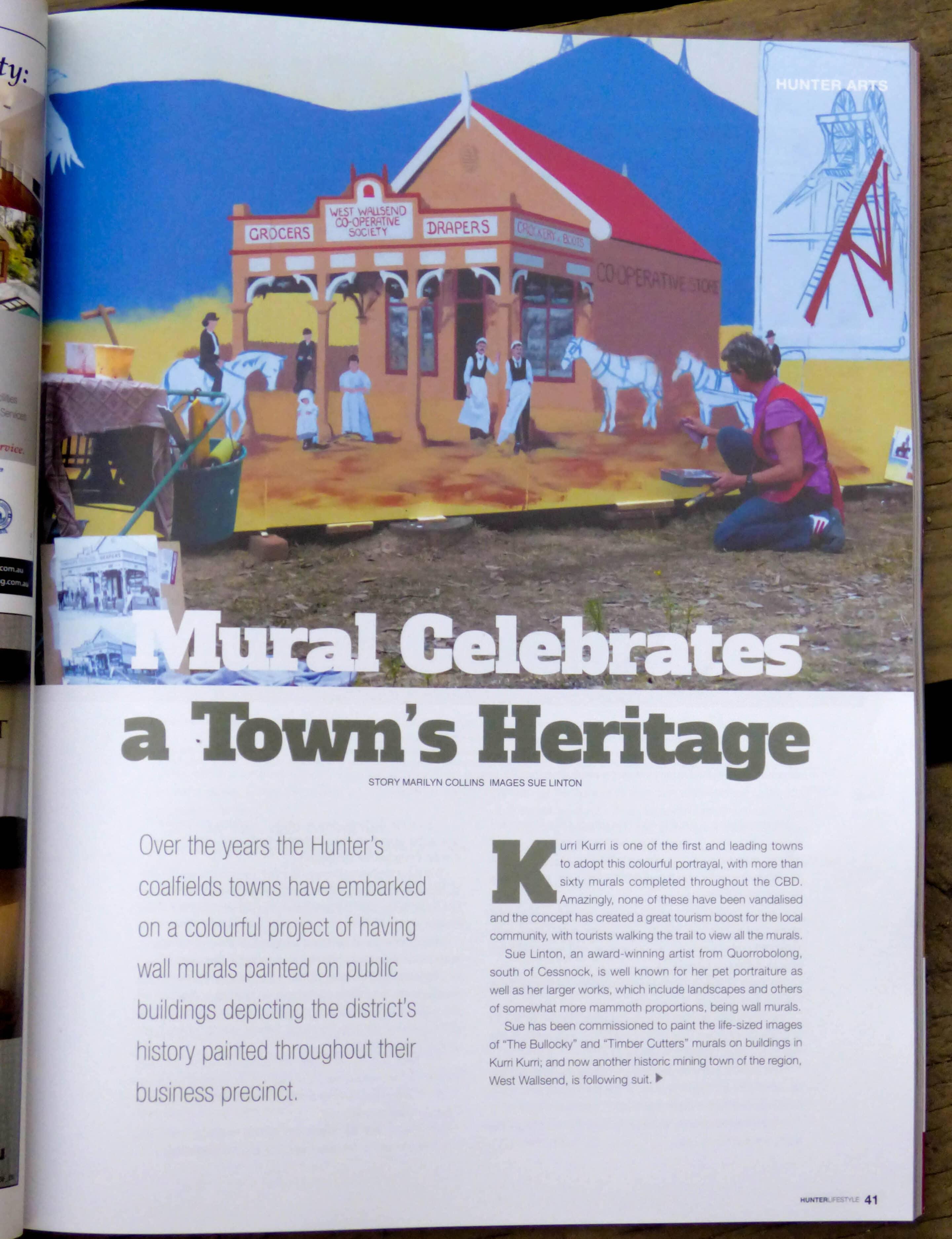 West Wallsend Heritage mural page 1
