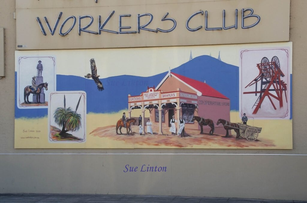 The mural on the West Wallsend Workers club