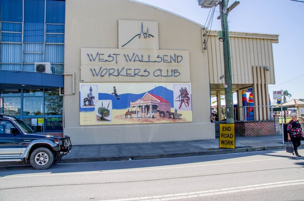 The mural on site