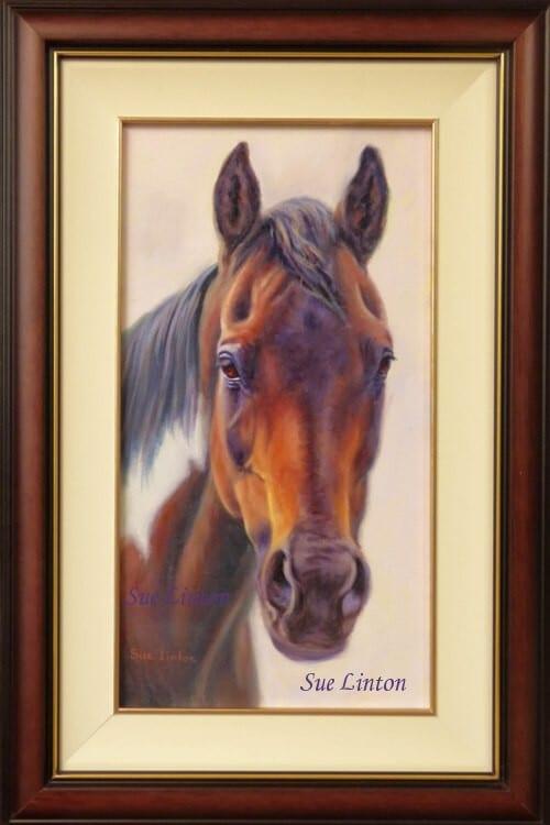 The framed memorial portrait of Navaho