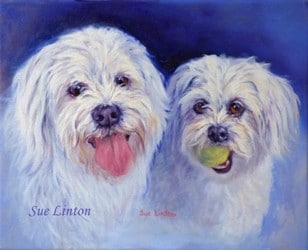Amemorial portrait of Selby with his mate Molly