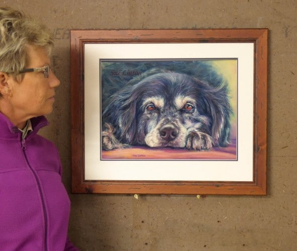 A 30 x 40cms framed pastel head portrait