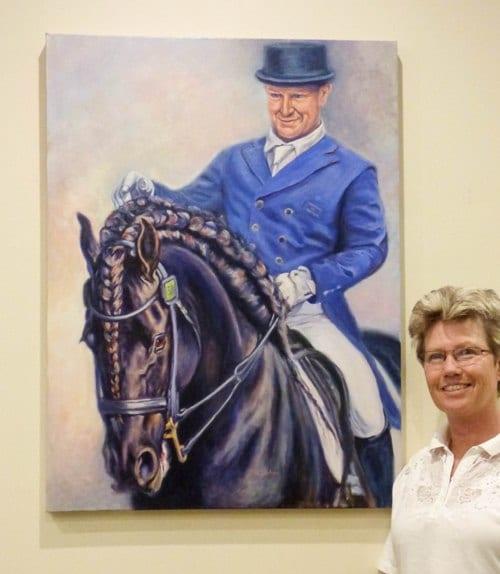 Large custom portrait of Jeremy Janjic and Django of Chacharel