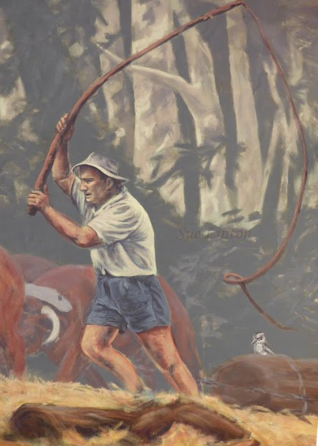 Detail of the bullock driver