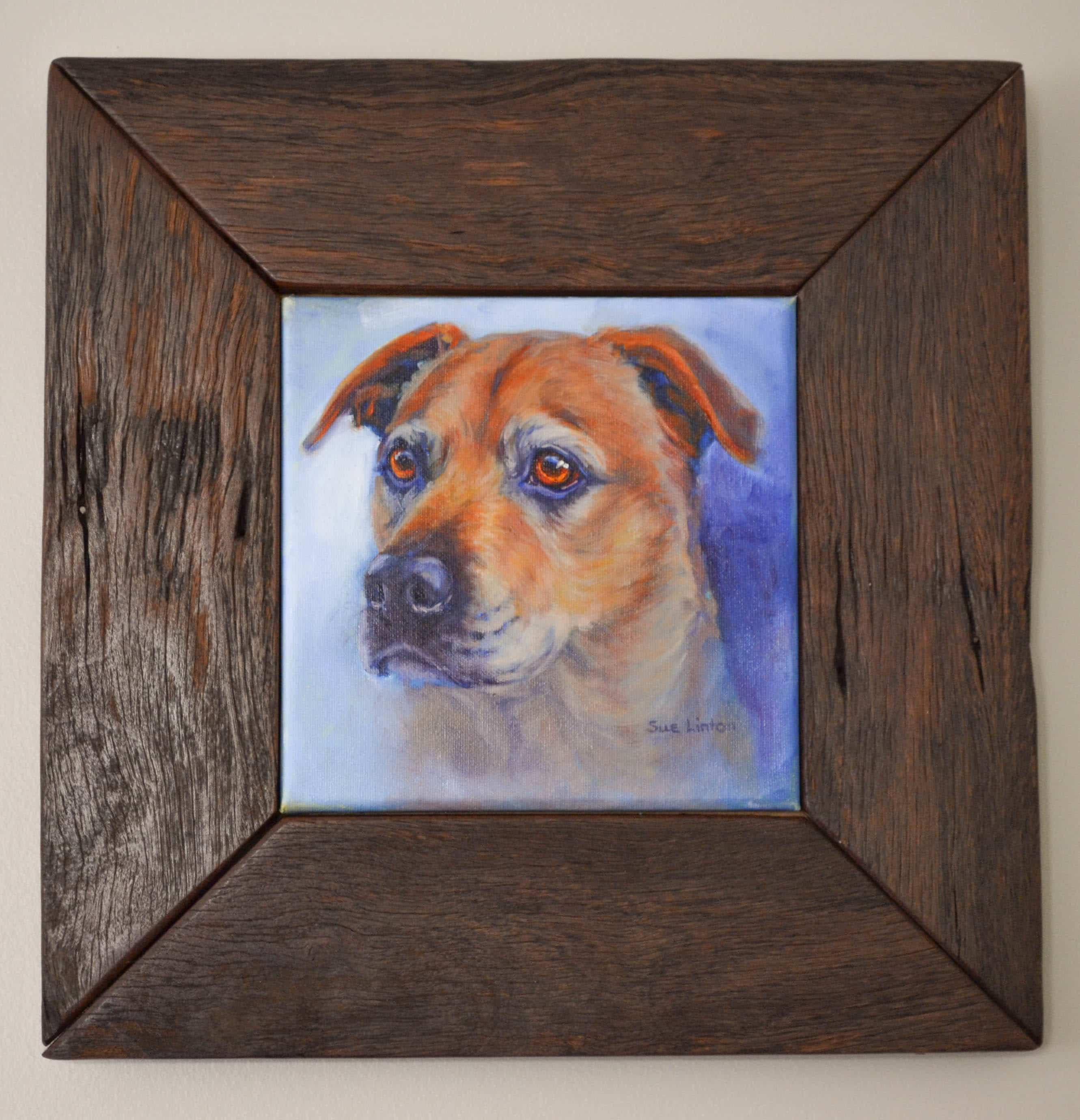 tahla framed 20 x 20cms oil