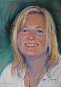 An oil portrai of a young girl