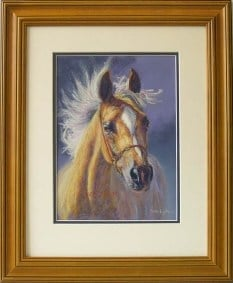 A pastel sketch special of an arab horse