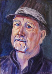 A character filled Oil portrait of a man