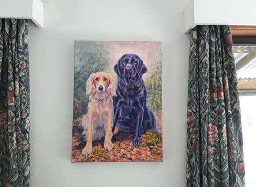 Charlotte & meg on the wall