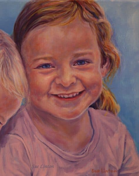 An Oil portrait of a young girl
